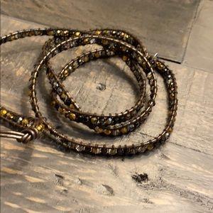 Victoria Emerson Brown Wrap Bracelet